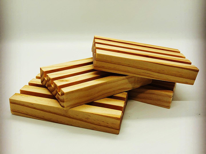 Yellow Pine Soap dish